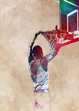 Basketbal 7 sportkunst #basketbal van JBJart Justyna Jaszke