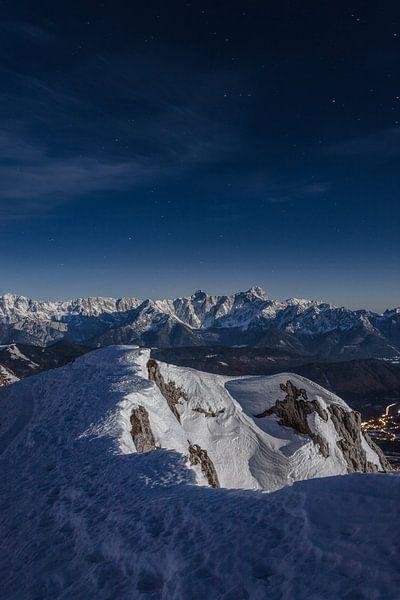 Nächtliche Winterlandschaft in Kärnten von Thomas Weber