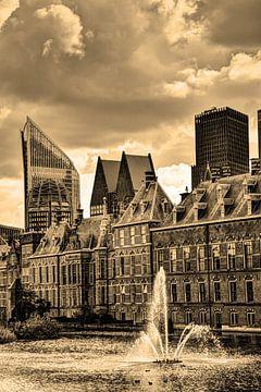 Binnenhof Den Haag Niederlande Sepia von Hendrik-Jan Kornelis