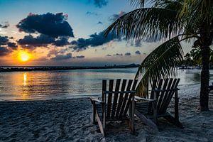 Zonsondergang in Curacao van