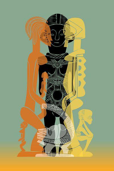 African Symbols van Harry Hadders
