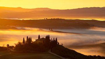 Toscaans huis van Fotografie door Menno