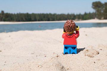 Lars maakt foto van Ilze de Meer