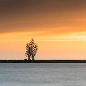 Zonsondergang aan het Markermeer van Fotografiecor .nl