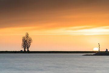 Zonsondergang aan het Markermeer