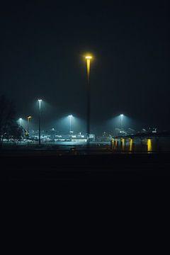 Flughafen Berlin Brandenburg bei Nacht - 2 von Lorenz Groche