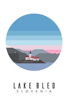 Slovenië - Lake Bled van Walljar