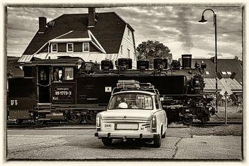 Trabant drijfstoomlocomotief met drijfstoomlocomotief van Johnny Flash