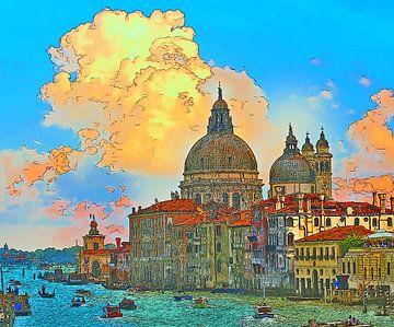 Italië Venetië Canal Grande van Dirk van der Ven