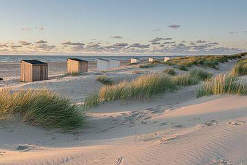 Chalets de plage sur Jolanda de Leeuw