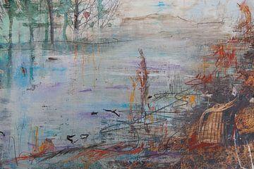Relaxen aan de IJssel van Sandra van de Griendt - Fibre Art