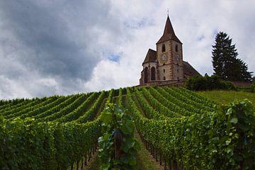 Die Kirche von Hunawihr, Frankreich (Eglise Saint-Jacques-le-Majeur) von Discover Dutch Nature