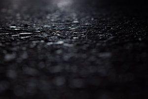 asfalt bij nacht