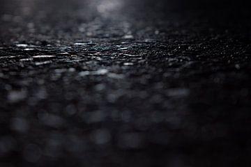 asfalt bij nacht van Robin Steen