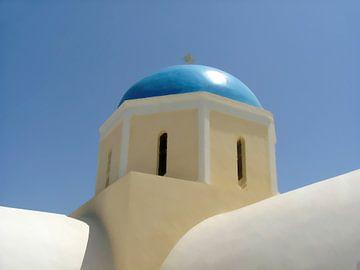 Typische Kirche auf der griechischen Insel Santorin von Annavee