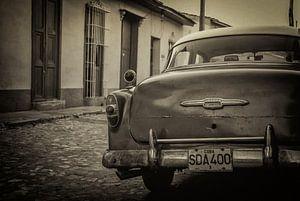 Oldtimer auto in de straten van Havana, Cuba