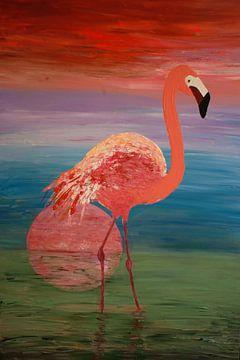 Flamingo sur Angelique van 't Riet