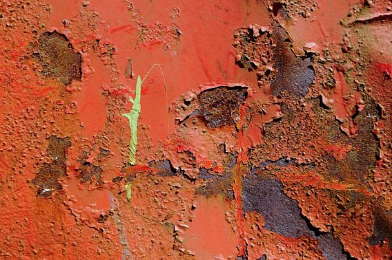 Orange With Rust And Green