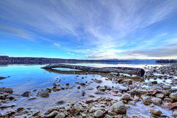 De rust van het meer van Starnberg, Corona New Year's Eve 2020 van Roith Fotografie