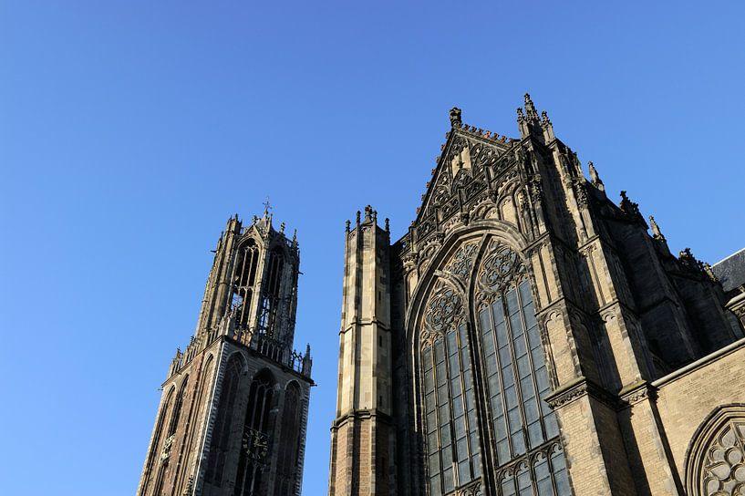 Domtoren en Domkerk in Utrecht van Merijn van der Vliet