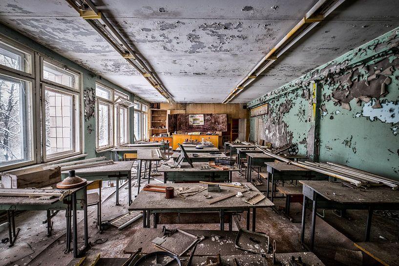 School in Chernobyl van Jan Vandenberghe