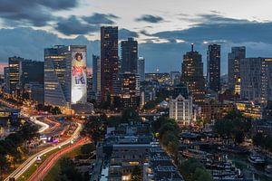 De skyline van Rotterdam.