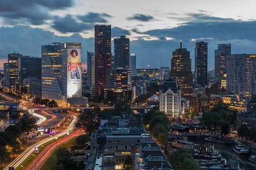 De skyline van Rotterdam. van MS Fotografie