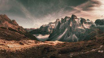 Bergpanorama in de Dolomieten van Steffen Peters