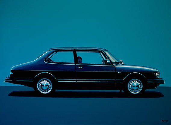 Saab 90 Schilderij