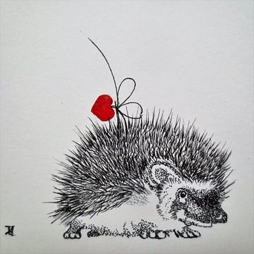 HeartFlow Egel 2 von Helma van der Zwan