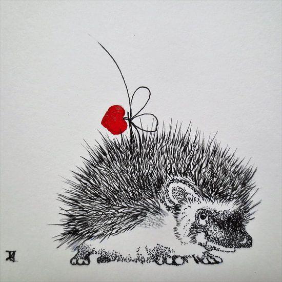 HeartFlow Hedgehog von Helma van der Zwan