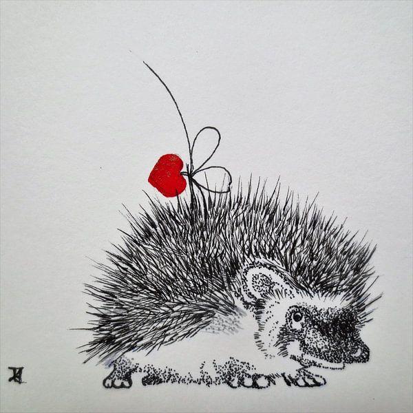 HeartFlow Hedgehog sur Helma van der Zwan