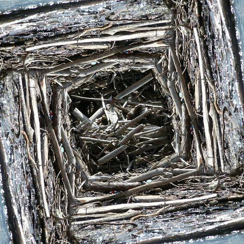 structure in driftwood (004w) van