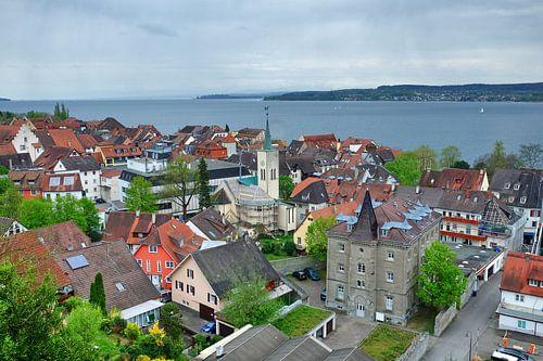 Stadtbild Überlingen van Edgar Schermaul