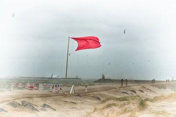 Rote Fahne von Erik Reijnders