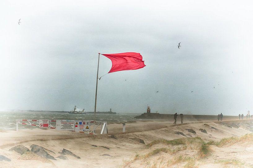 Drapeau rouge sur Erik Reijnders