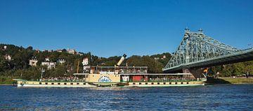 """Elbe Bridge """"Blue Wonder"""", Dresden van"""