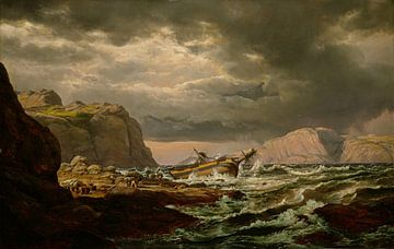Schiffbruch an der norwegischen Küste, Johan Christian Dahl