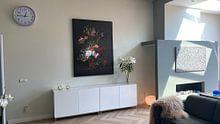 Photo de nos clients: Vase avec des fleurs, Rachel Ruysch (vue à vtwonen), sur toile