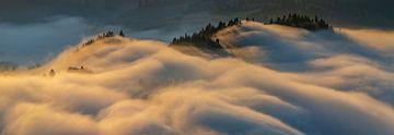 Montagnes des Pieniny au lever du soleil sur Wojciech Kruczynski