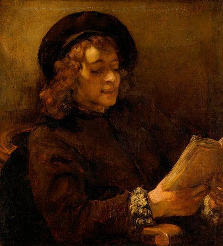 Titus van Rijn, de Zoon van de Kunstenaar, Reading, Rembrandt van Rijn