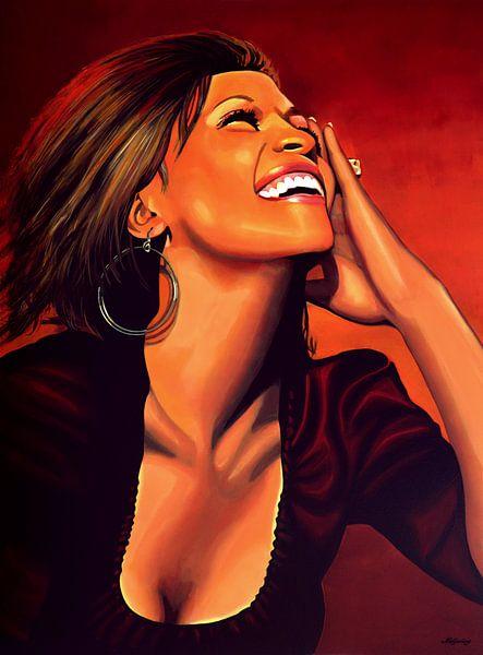 Whitney Houston Painting sur Paul Meijering