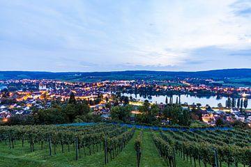 Stein am Rhein aan de Bodensee in Zwitserland van Werner Dieterich