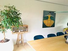 Klantfoto: Dame im gelben Kleid, Max Kurzweil, op canvas