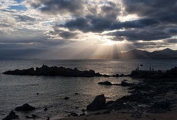 Sonnenuntergang auf Lanzarote von Angelika Stern