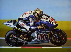 Jorge Lorenzo schilderij