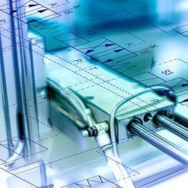 Pneumatische cilinder van 2BHAPPY4EVER.com photography & digital art