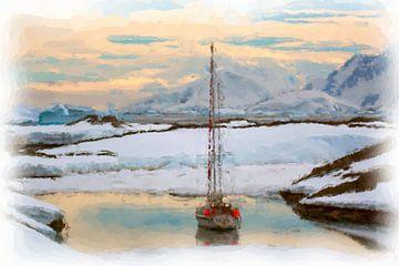 Zeilboot Antarctica van Maurice Dawson