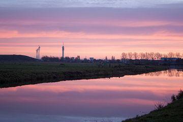 Haarlem zicht op Waarderpolder van