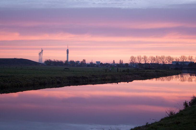 Haarlem zicht op Waarderpolder van Felagrafie .